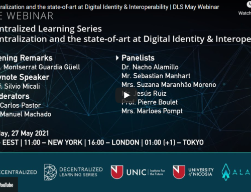 Decentralization and the state-of-art at Digital Identity & Interoperability | DLS May Webinar