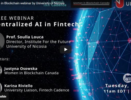 Women in Blockchain webinar by University of Nicosia